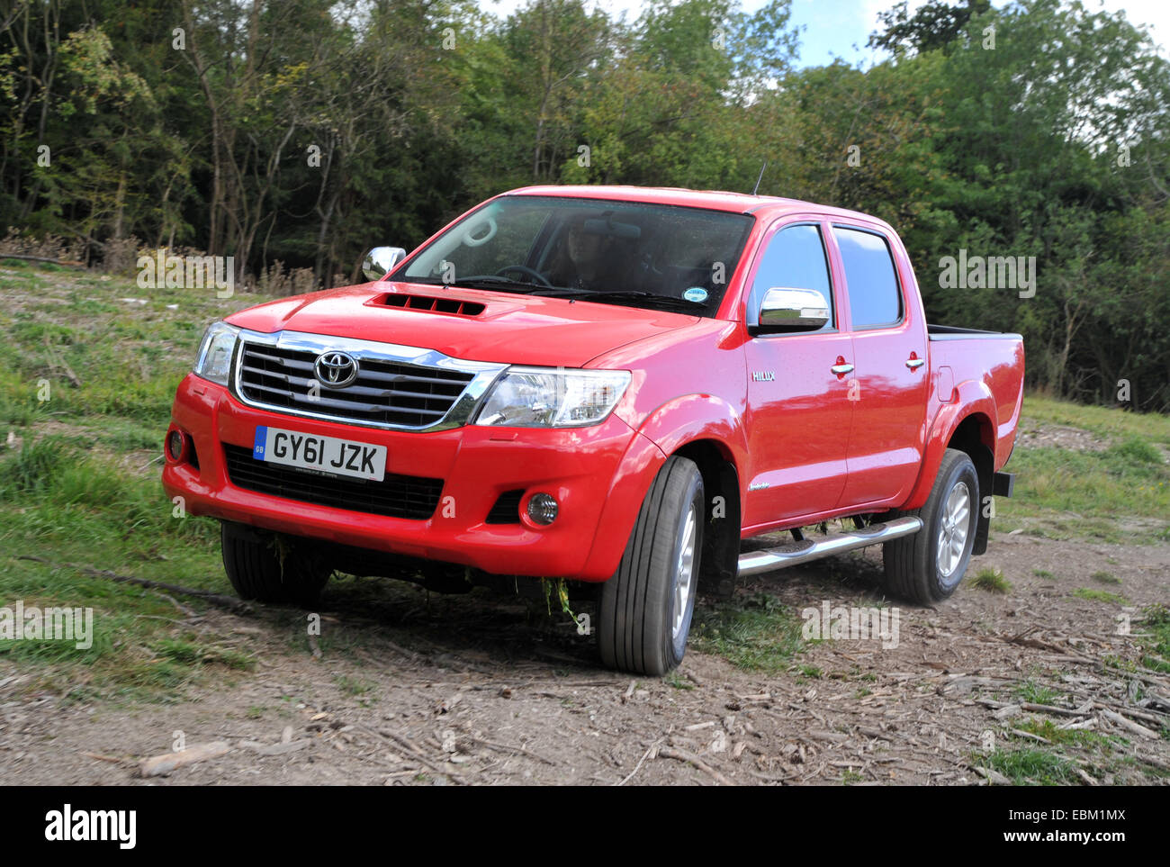 2012 toyota hilux invincible 4 wheel drive pick up truck driving off road stock image