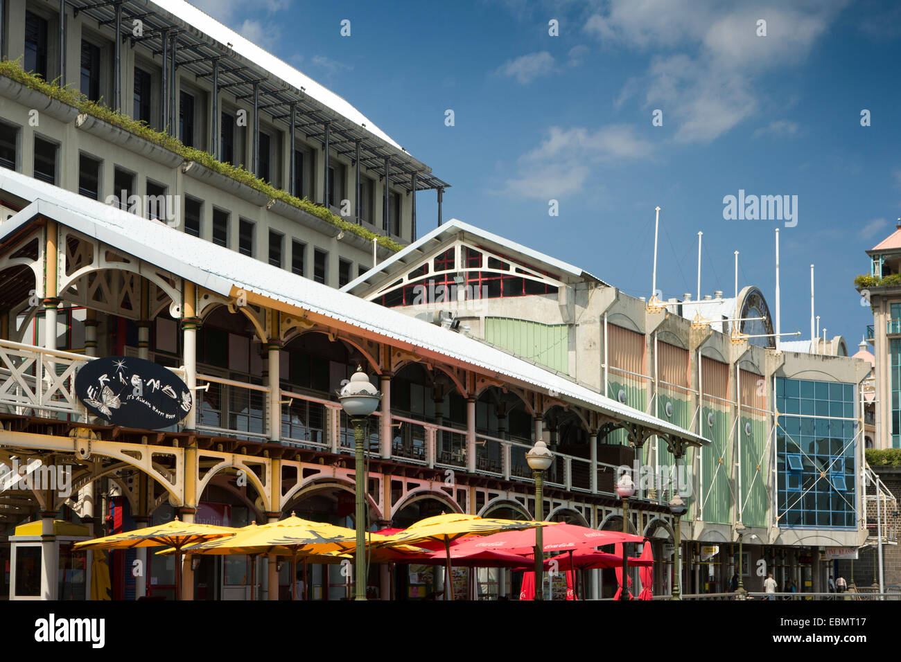 Mauritius port louis caudon waterfront seafront bars and stock photo royalty free image - Restaurants in port louis mauritius ...