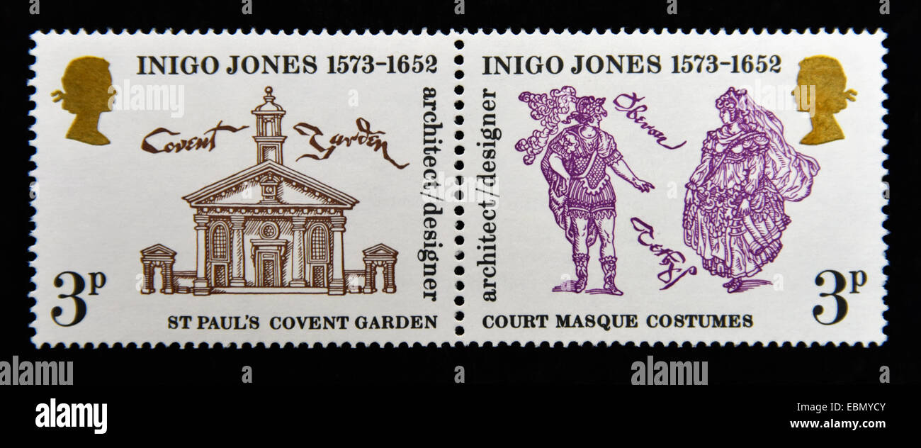 inigo jones covent garden stock photos inigo jones covent garden postage stamps great britain queen elizabeth ii 1973 400th birth anniversary
