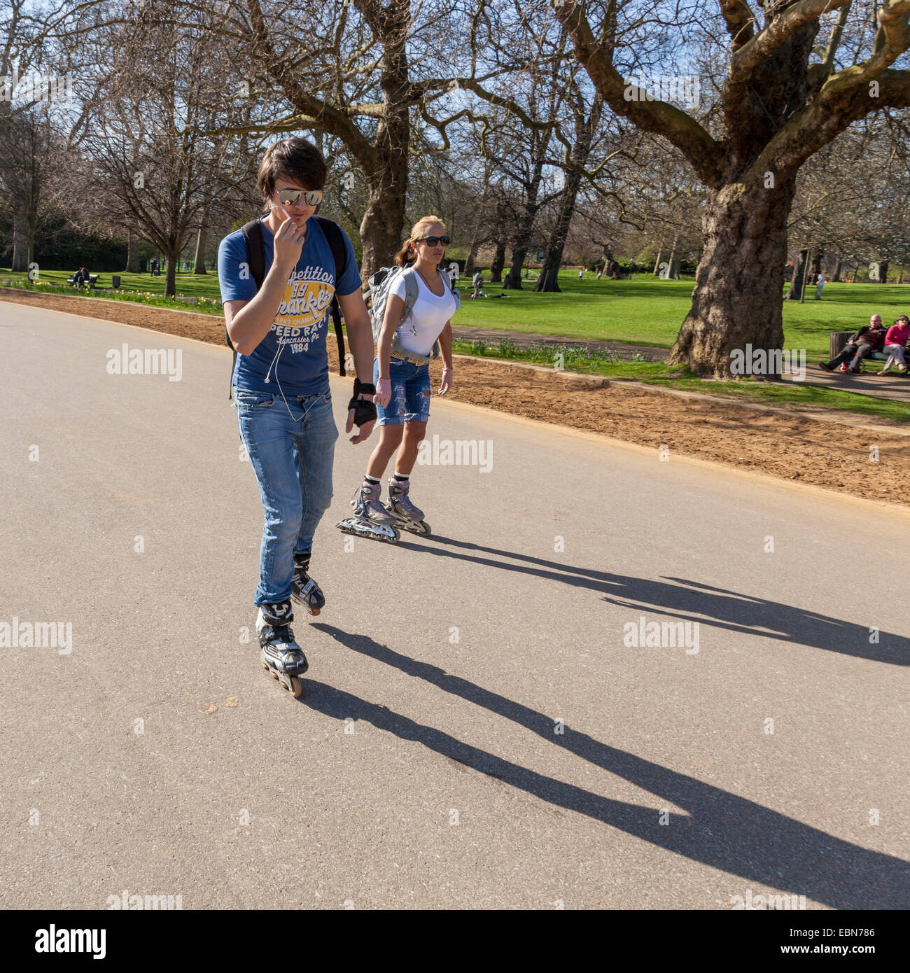 Roller skating hyde park
