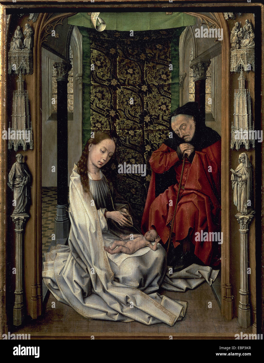 Gothic Art Miraflores Altarpiece Panel By Early Netherlandish Painter Rogier Van Der Weyden