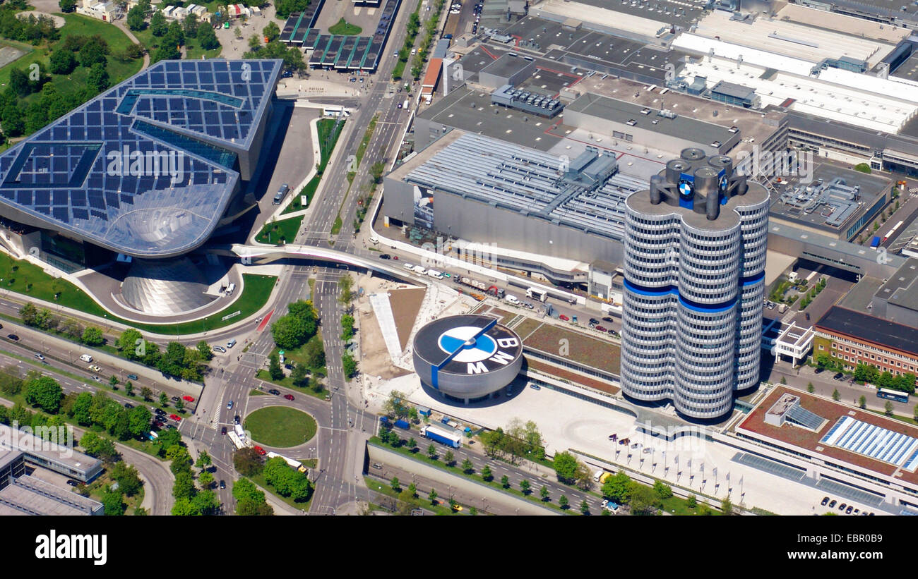 Aerial View To Bmw World Bmw Museum And Bmw Four Cylinder 8 5 2008 Stock Photo Royalty Free