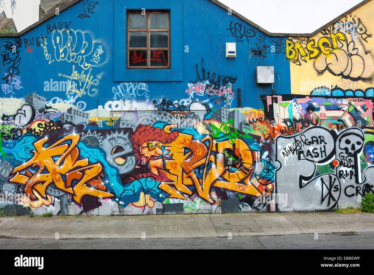 Graffiti wall dublin - Stock Photo Wall Graffiti Dublin Republic Of Ireland Europe