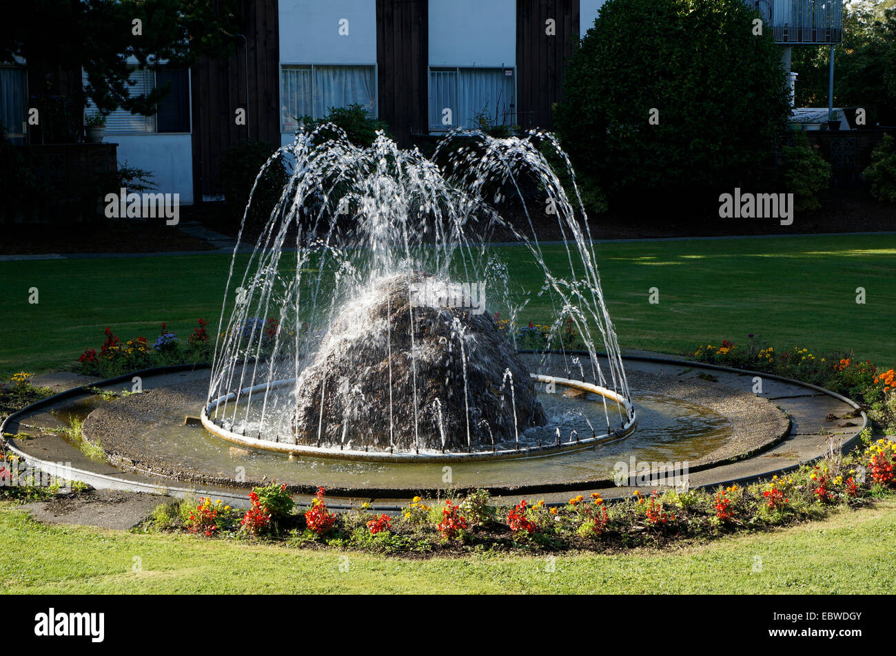 Water fountains canada - Garden Fountain With Water Spilling Onto A Boulder Vancouver Bc Canada
