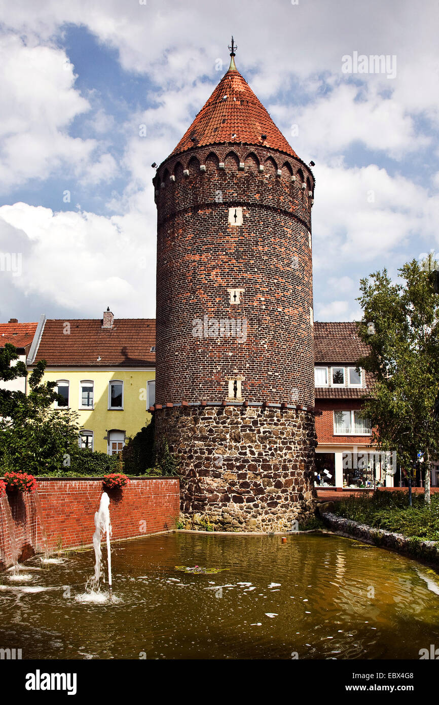 tower Siebenteufelsturm in Haltern am See , Germany, North ...