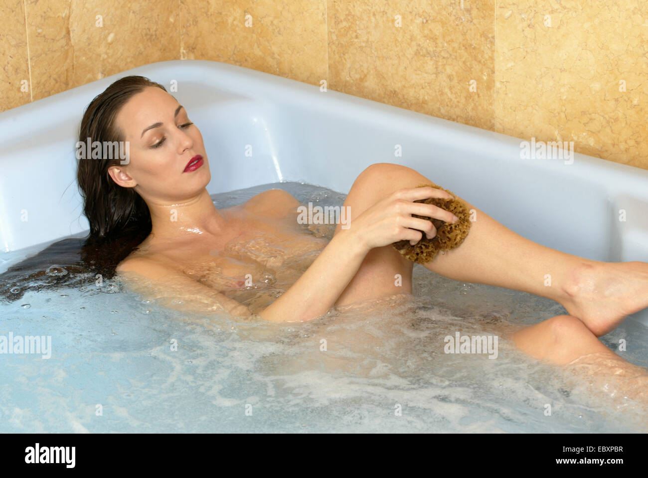 sexy naked women in the bathtub
