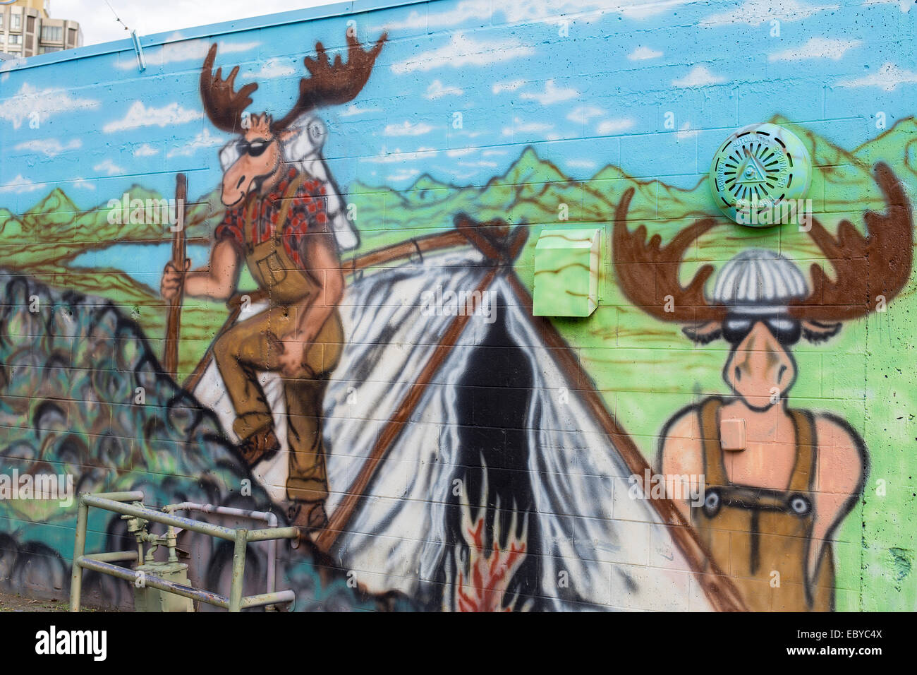 Color art anchorage - A Mural On A Wall In Anchorage Alaska Usa