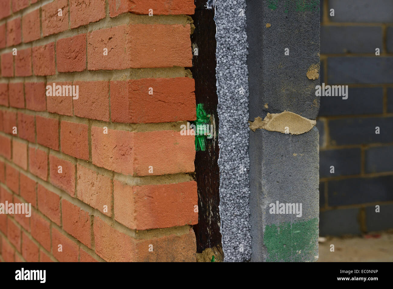 Cross Section Detail Of A Modern Cavity Wall On A House