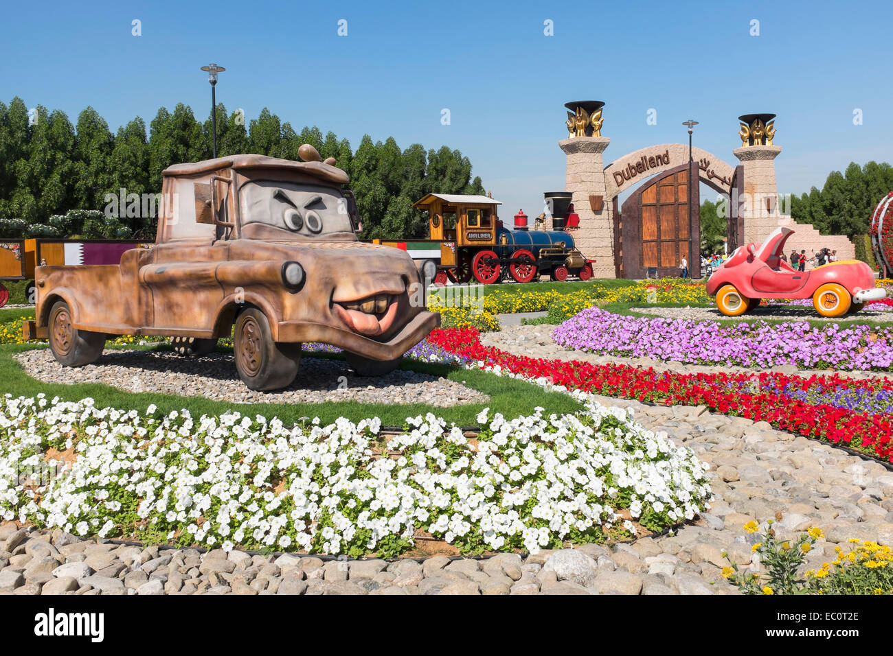 Model cartoon cars at Miracle Garden the world's biggest ... - photo#45