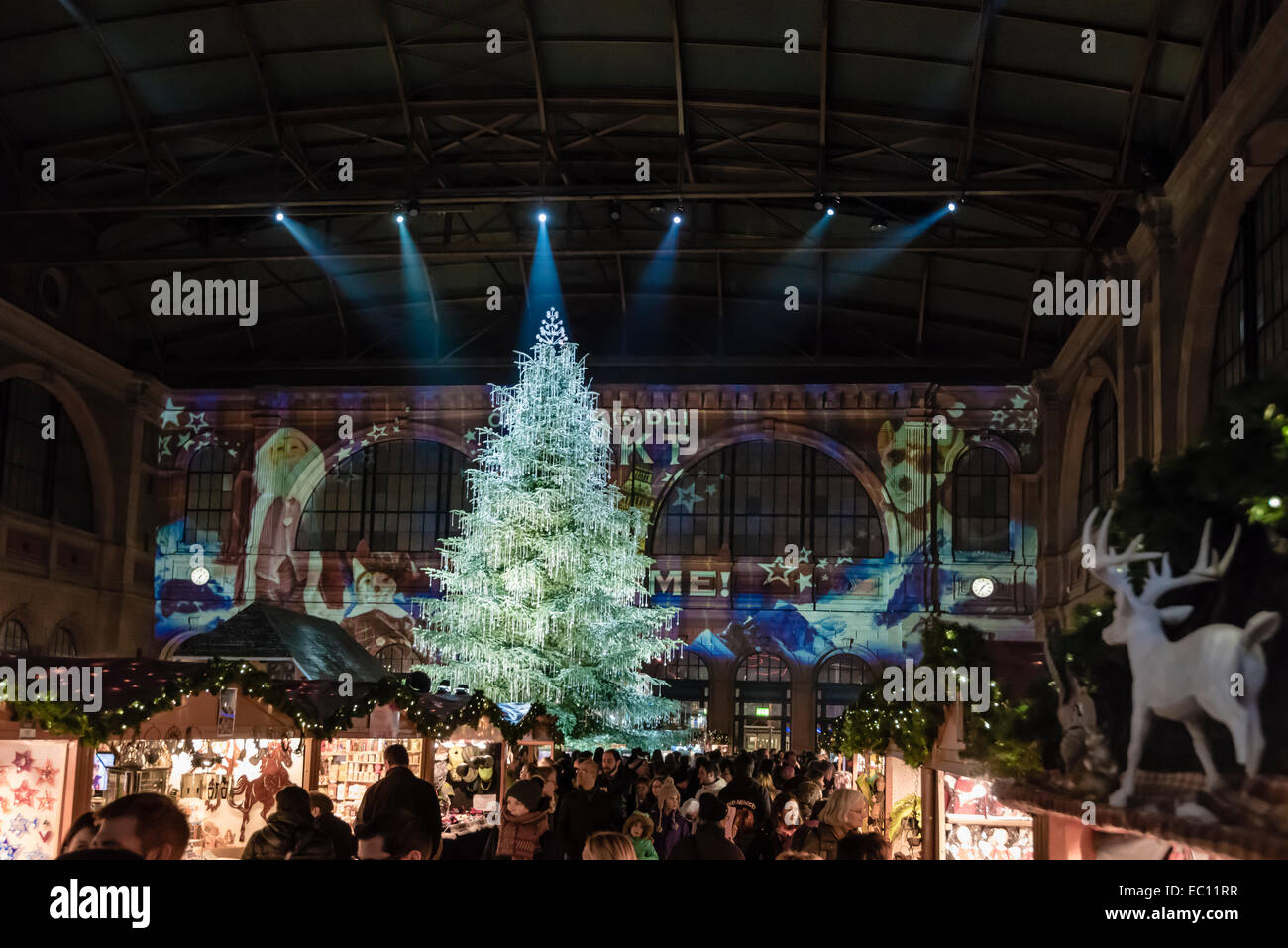 A Giant Christmas Tree Draped With Swarovski Jewelery