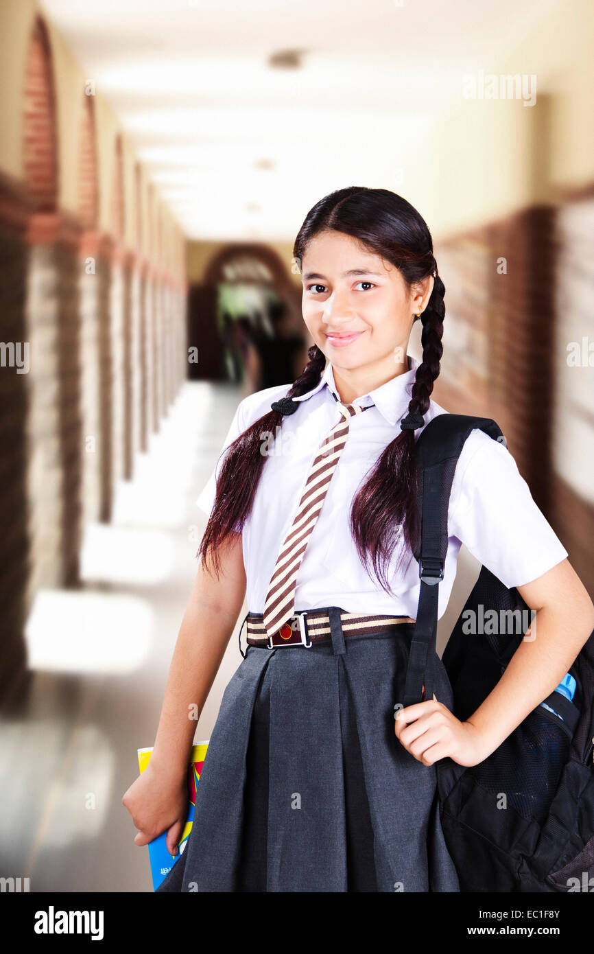 1 indian school girl student stock photo royalty free