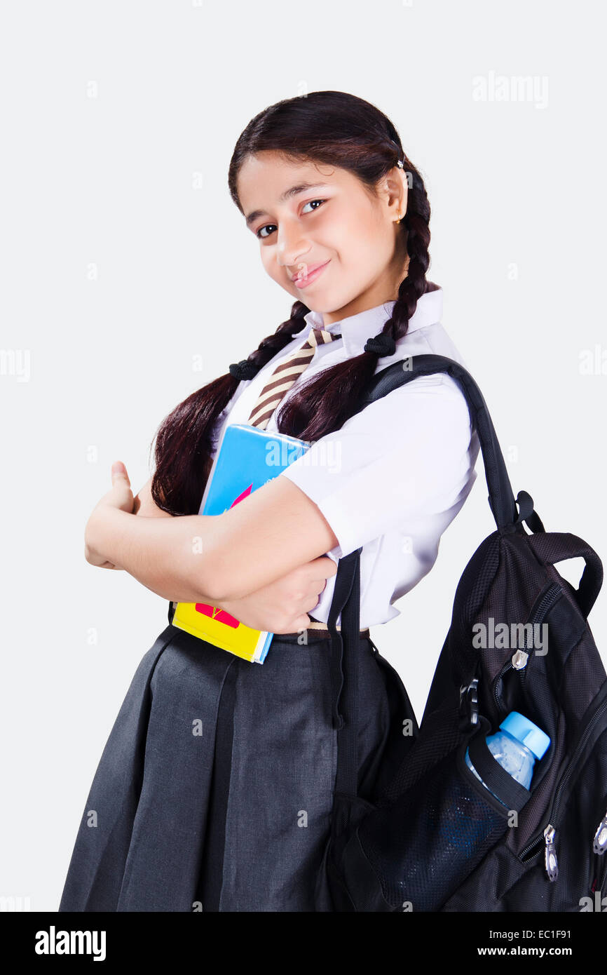 1 indian School girl Student Stock Photo, Royalty Free ...