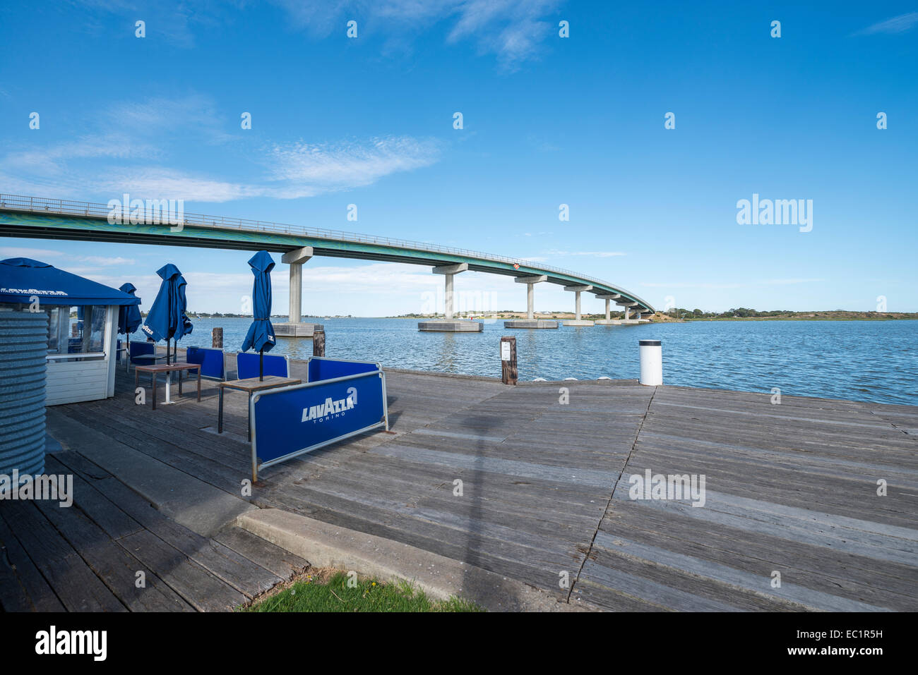 Goolwa Australia  City new picture : ... Photo The Hindmarsh Island Bridge and Goolwa dock, South Australia