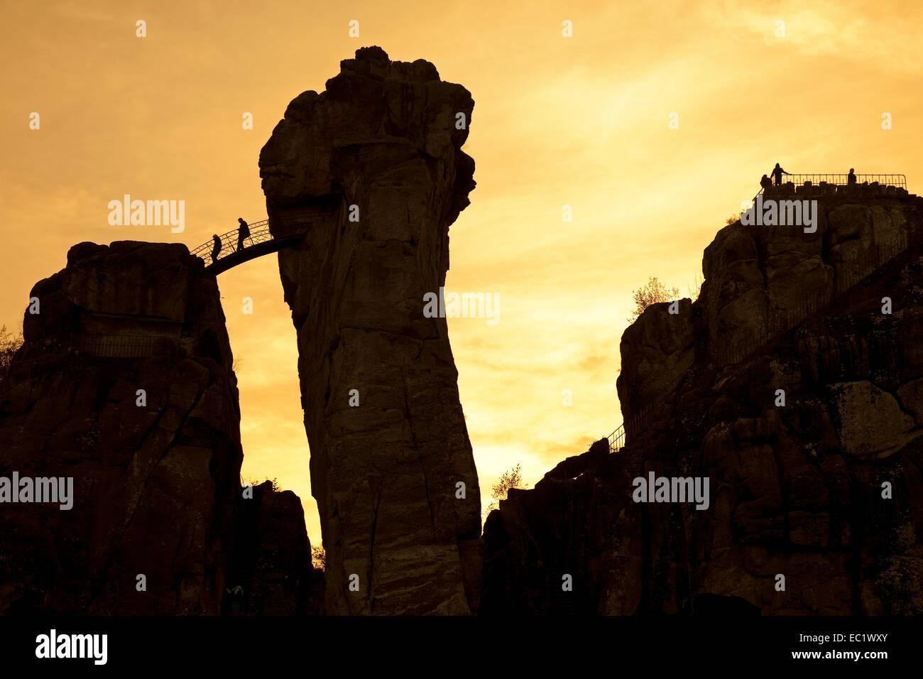 Horn Bad at externsteine sandstone rock formations horn bad meinberg