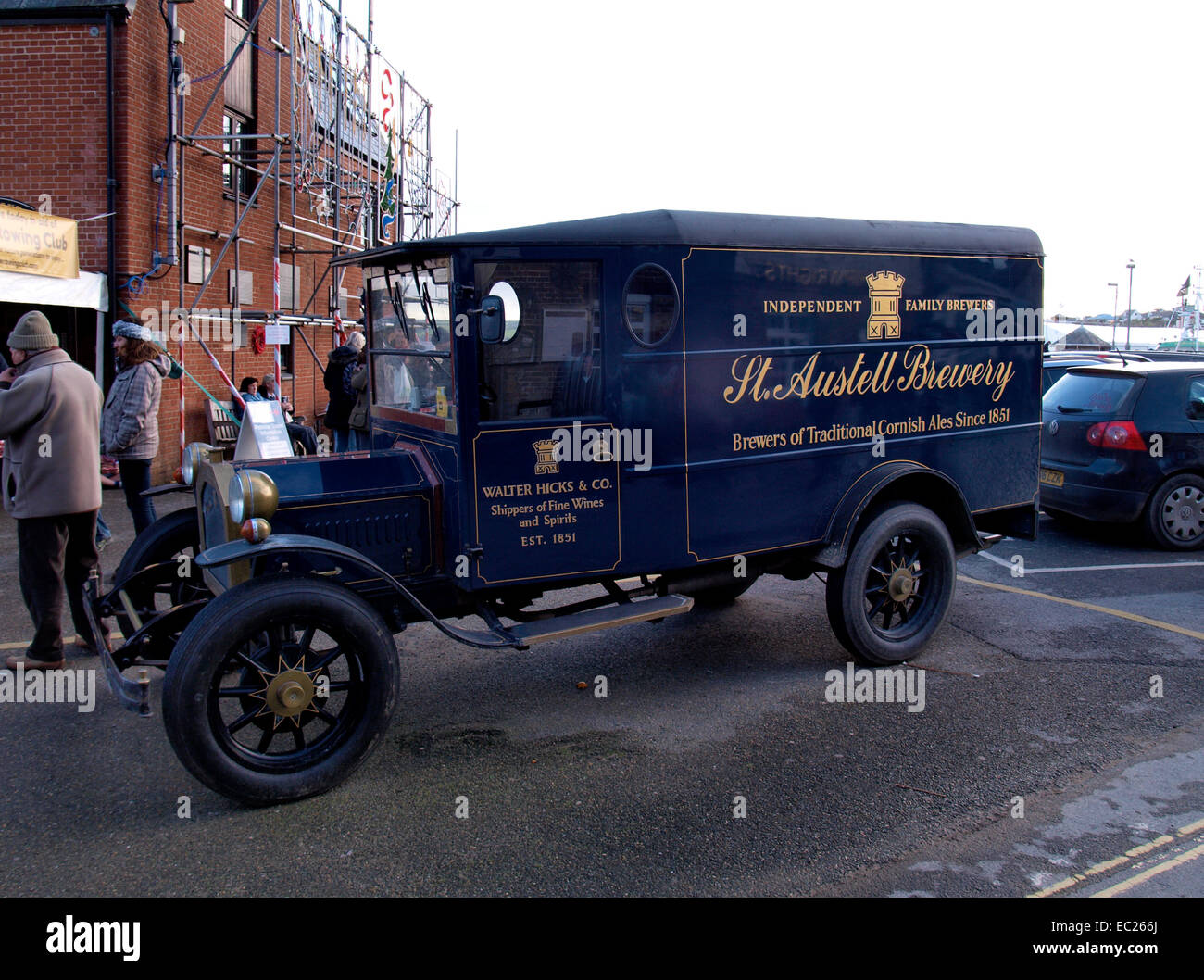 Old fashioned style replica delivery truck now used to advertise ...