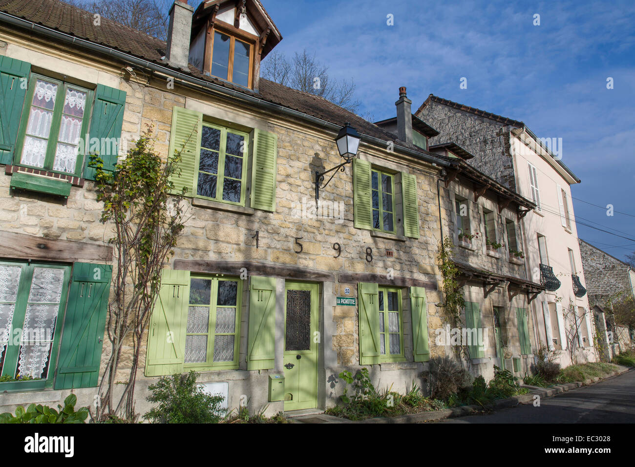 france val d 39 oise auvers sur oise the village where vincent van stock photo royalty free. Black Bedroom Furniture Sets. Home Design Ideas