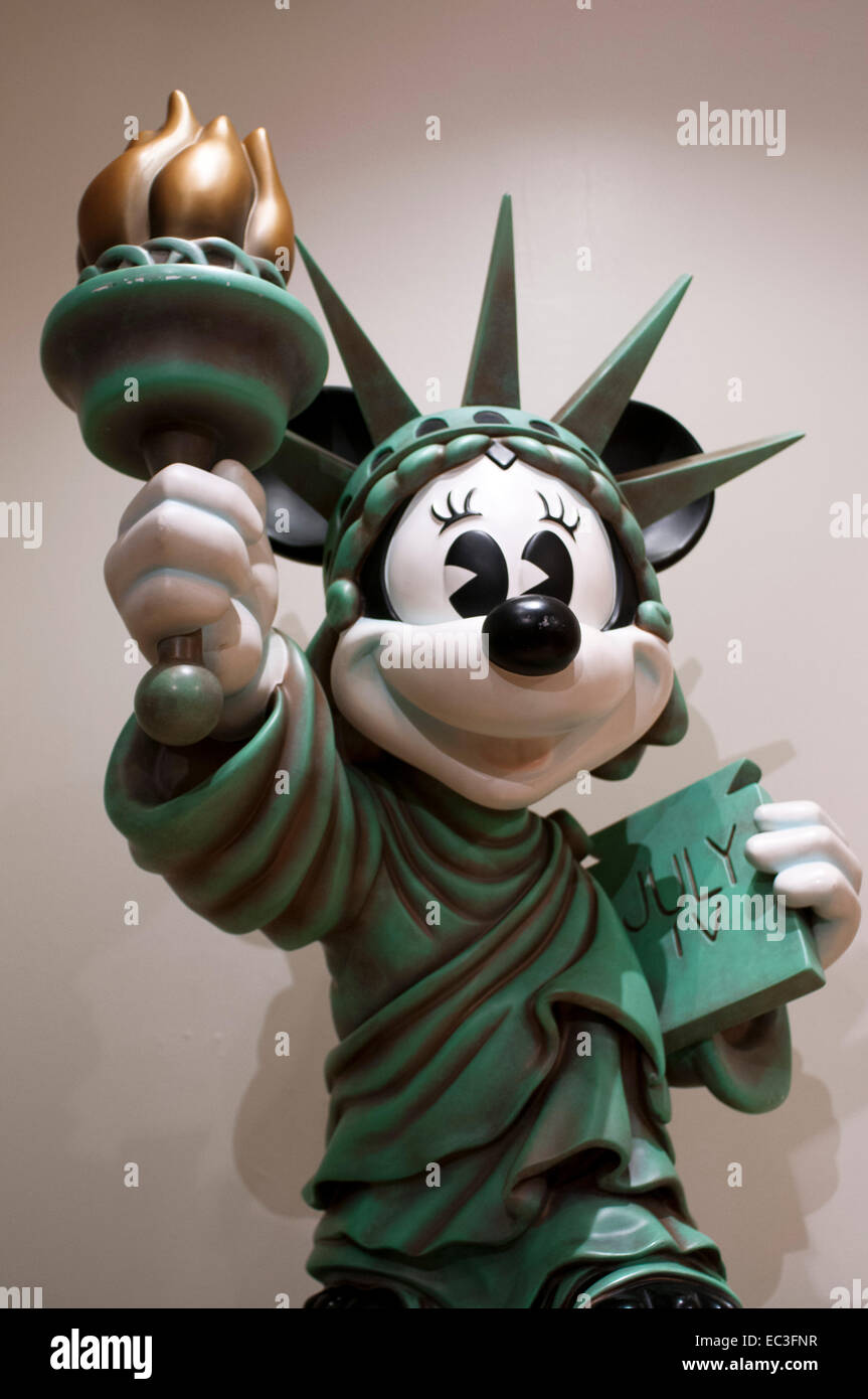 Mickey mouse dressed in statue of liberty disney store in new york stock photo royalty free - Disney store mickey mouse ...