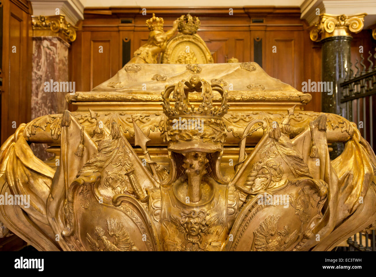 sarcophagus of the hohenzoller family in the hohenzollern gruft stock photo royalty free image. Black Bedroom Furniture Sets. Home Design Ideas