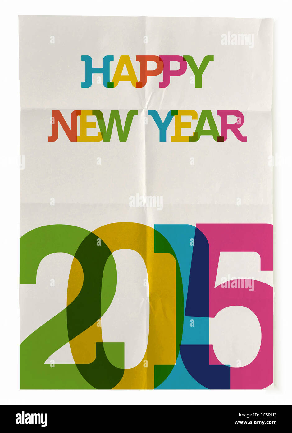Trendy Poster Designs: Happy New Year 2015 Trendy Vintage Folded Poster Design