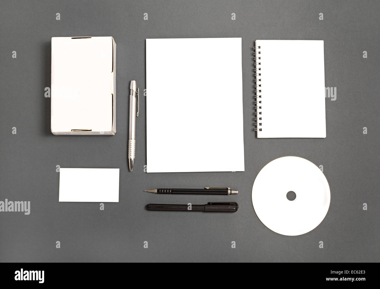 Blank stationery set : business cards, booklet, sheets, notebook, CD ...