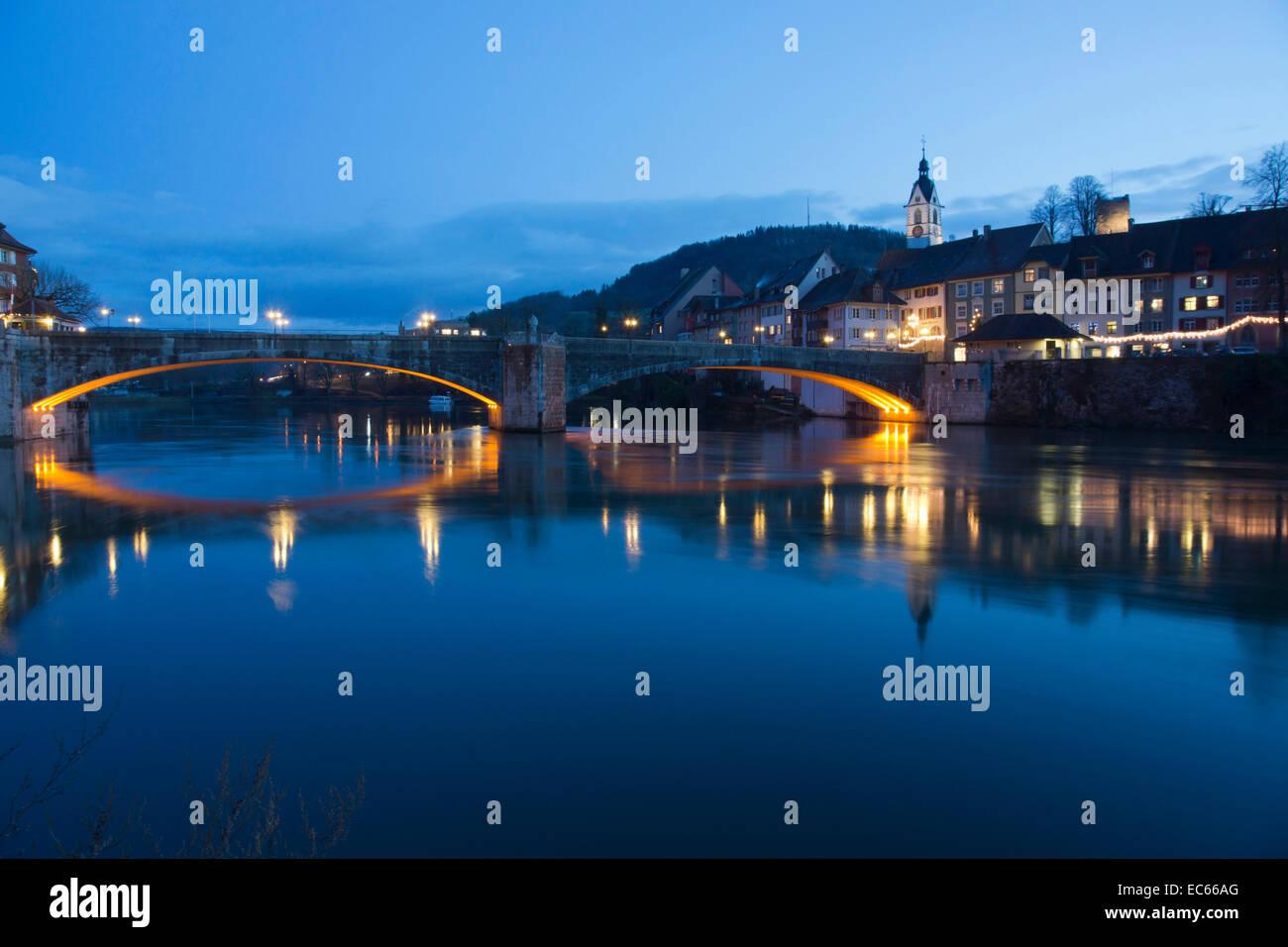 Bridge Over The River Rhine Near Laufenburg High Rhine Swiss - Swiss river to the rhine