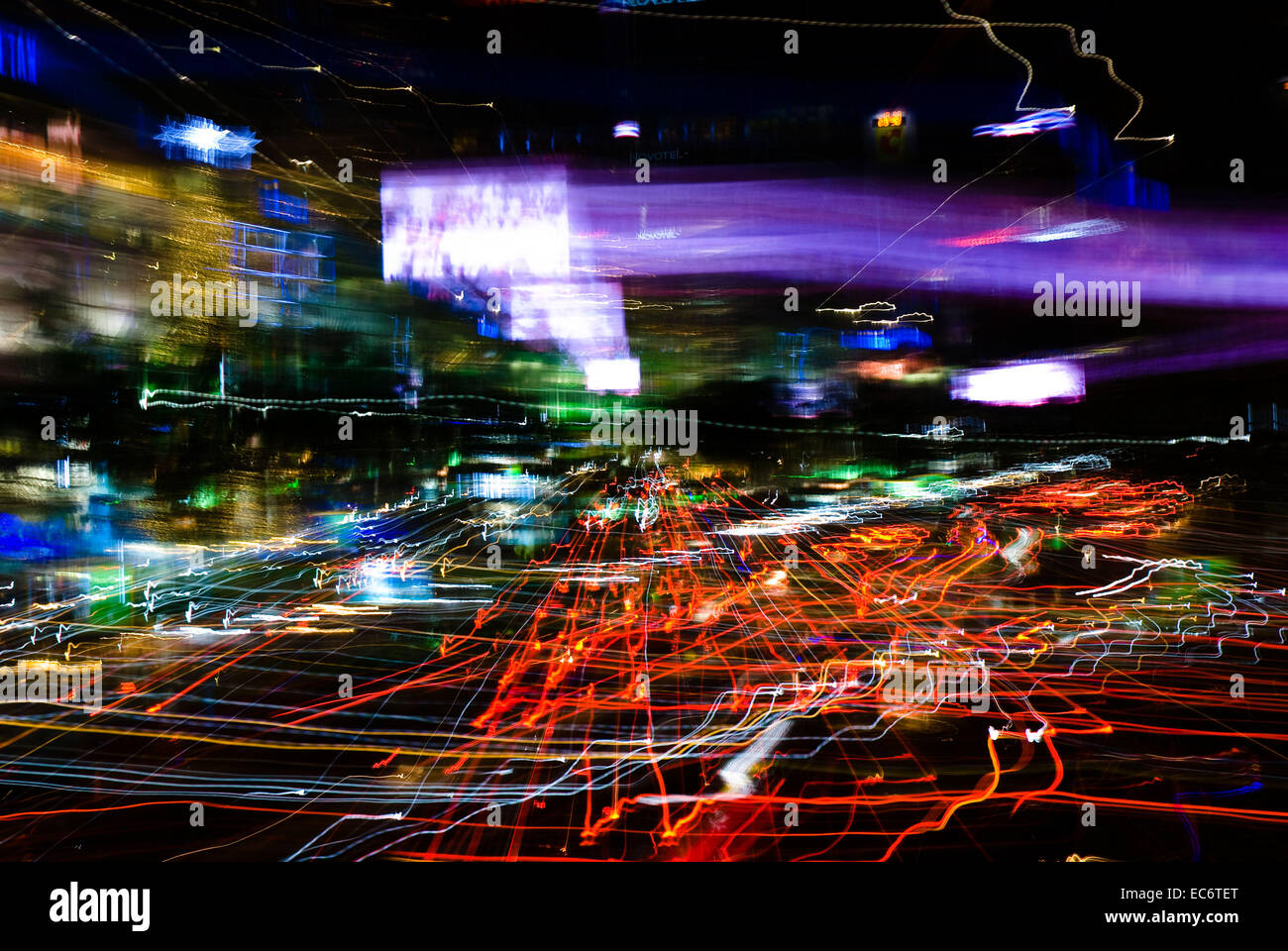 big city lights bangkok abstract art stock photo royalty free image 76368288 alamy. Black Bedroom Furniture Sets. Home Design Ideas