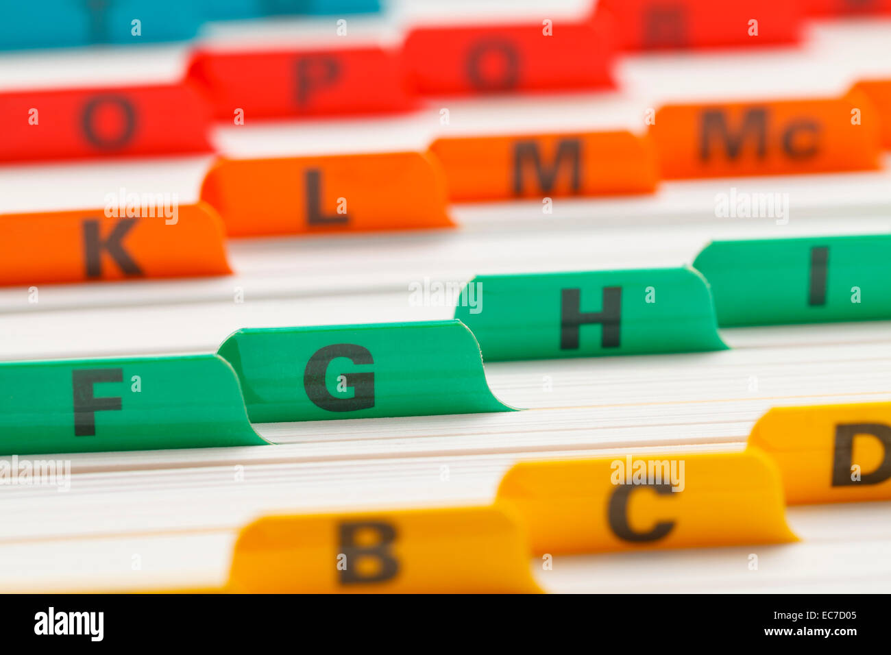 Alphabetical color coded business card file system stock photo alphabetical color coded business card file system magicingreecefo Choice Image