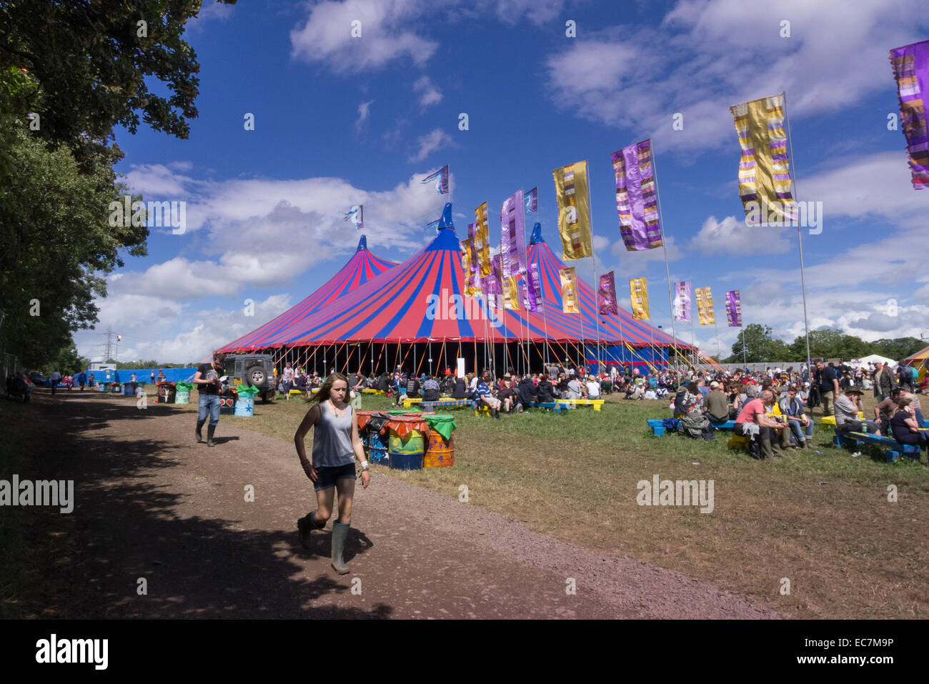 The Acoustic Tent at The Glastonbury Festival in Somerset & The Acoustic Tent at The Glastonbury Festival in Somerset Stock ...