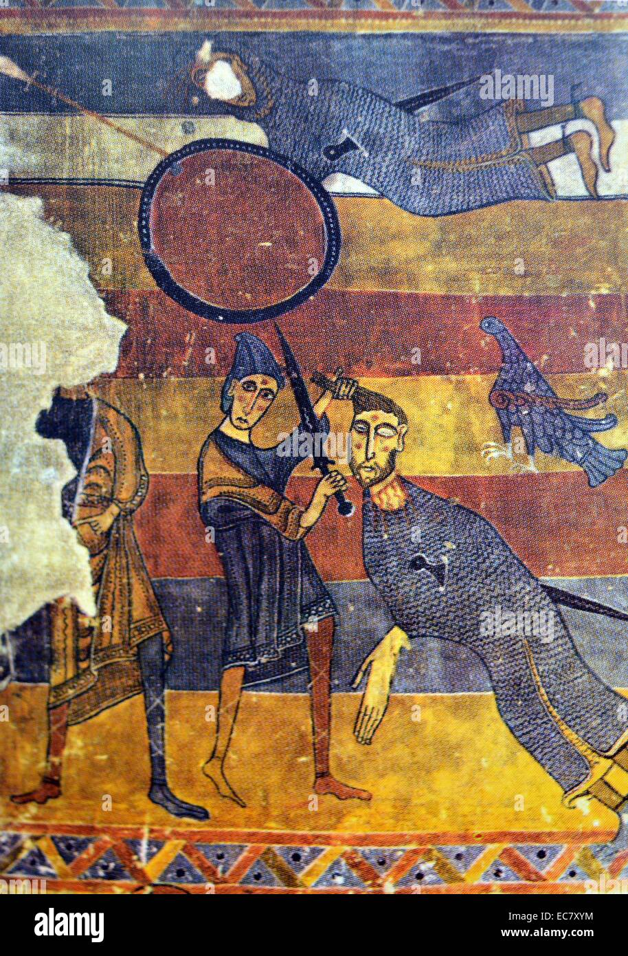 david and goliath c1123 fresco detached from the interior of