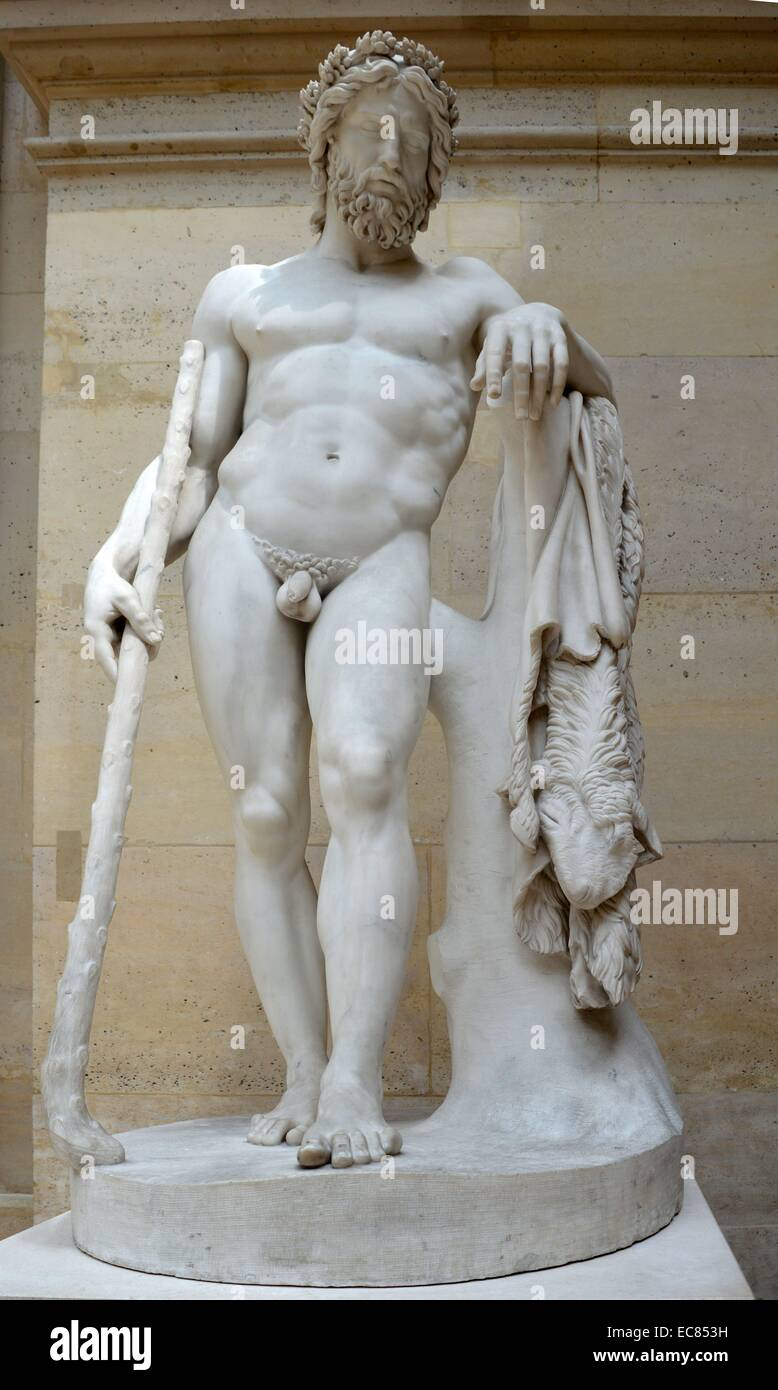 marble statue of the greek god aristaeus created by françois