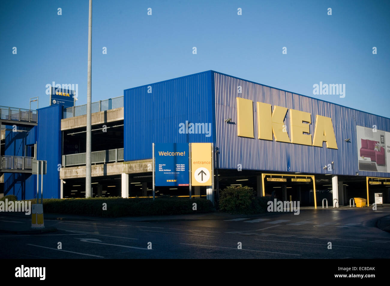 Stock Photo   Ikea Leeds Swedish Furniture Store Stores Sweden Brand Brands  Superstore Huge Retailer Retailing Retail Retailers Out Of Town Sh