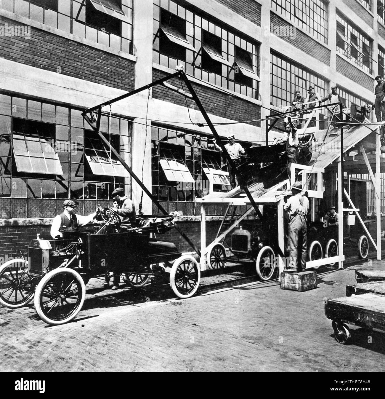 FORD ASSEMBLY LINE At The Highland Park Factory Michigan In 1913
