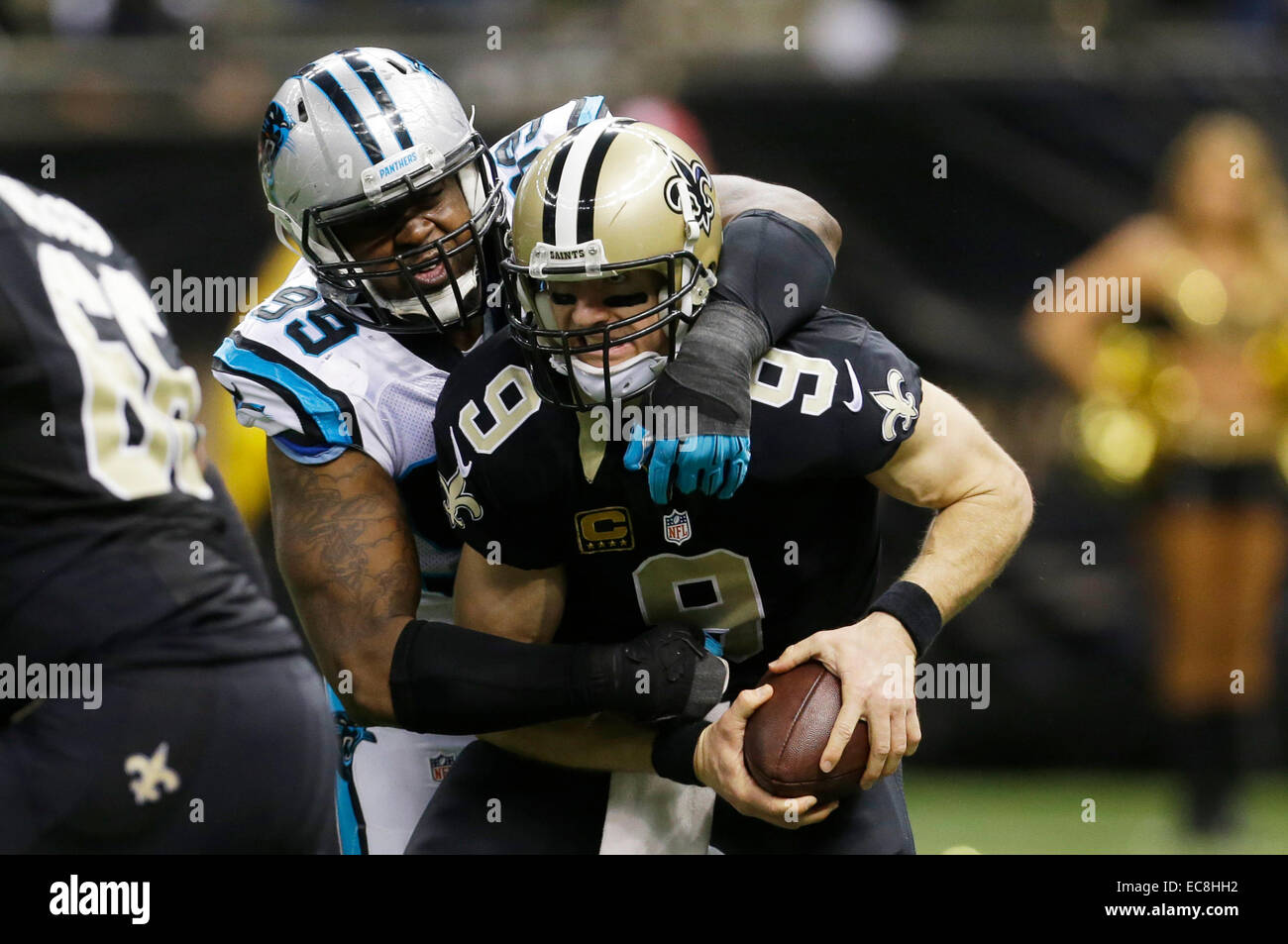 New Orleans LA USA 7th Dec 2014 Carolina Panthers defensive