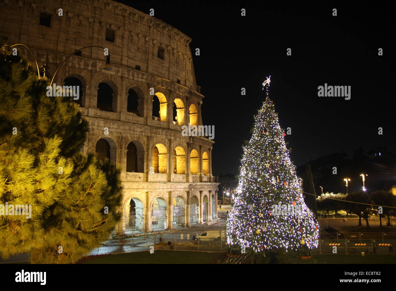 Rome, Italy. 10th December, 2014. Christmas tree set up by the ...