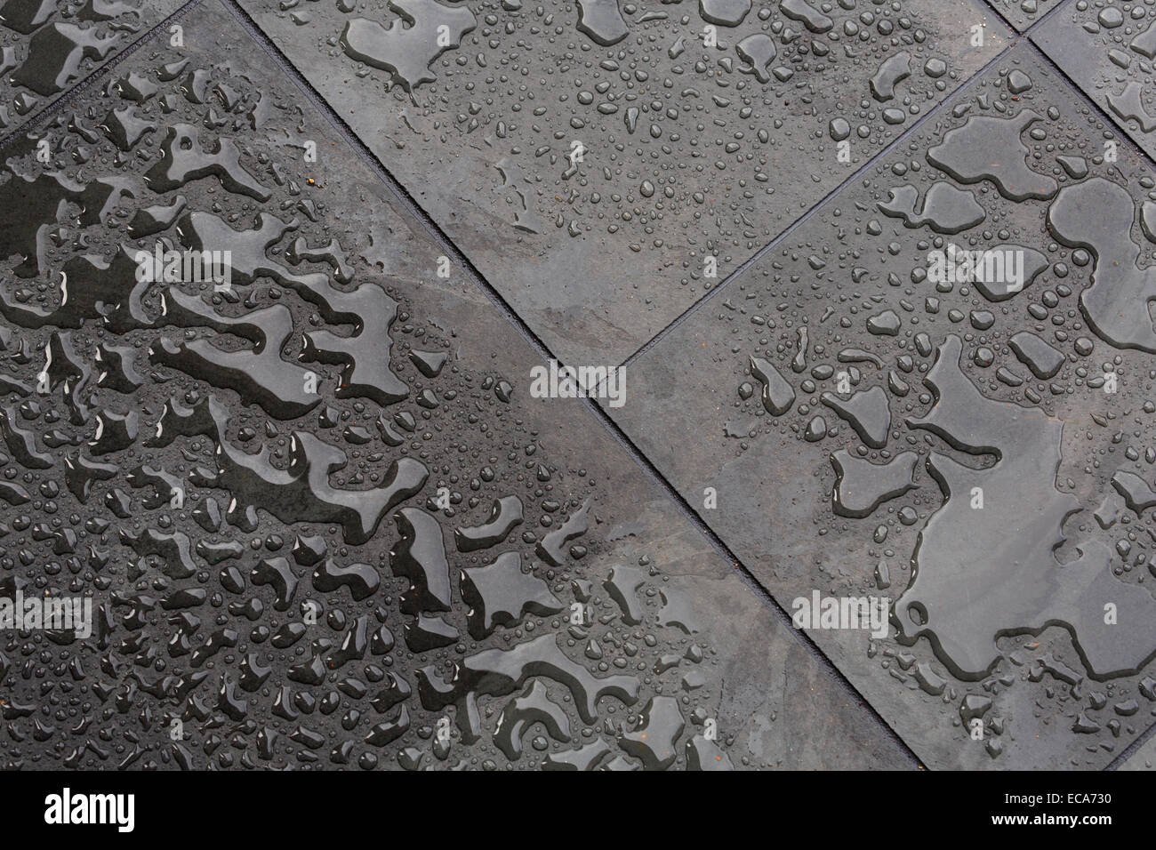 Slate tile floor with raindrops stock photo royalty free image slate tile floor with raindrops dailygadgetfo Images