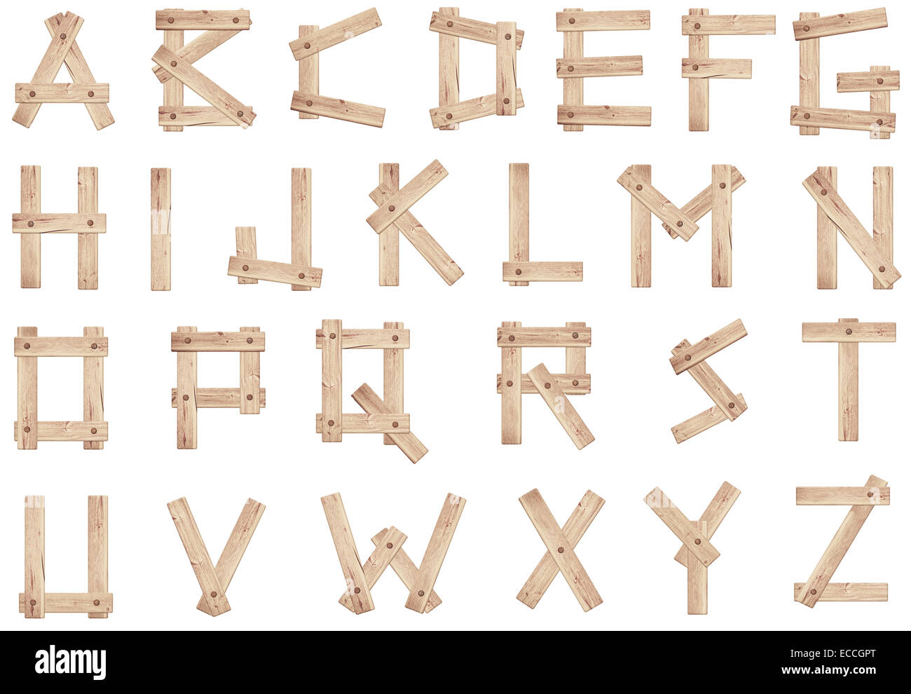 old wooden alphabet letters made of wood planks stock With letters made of wood