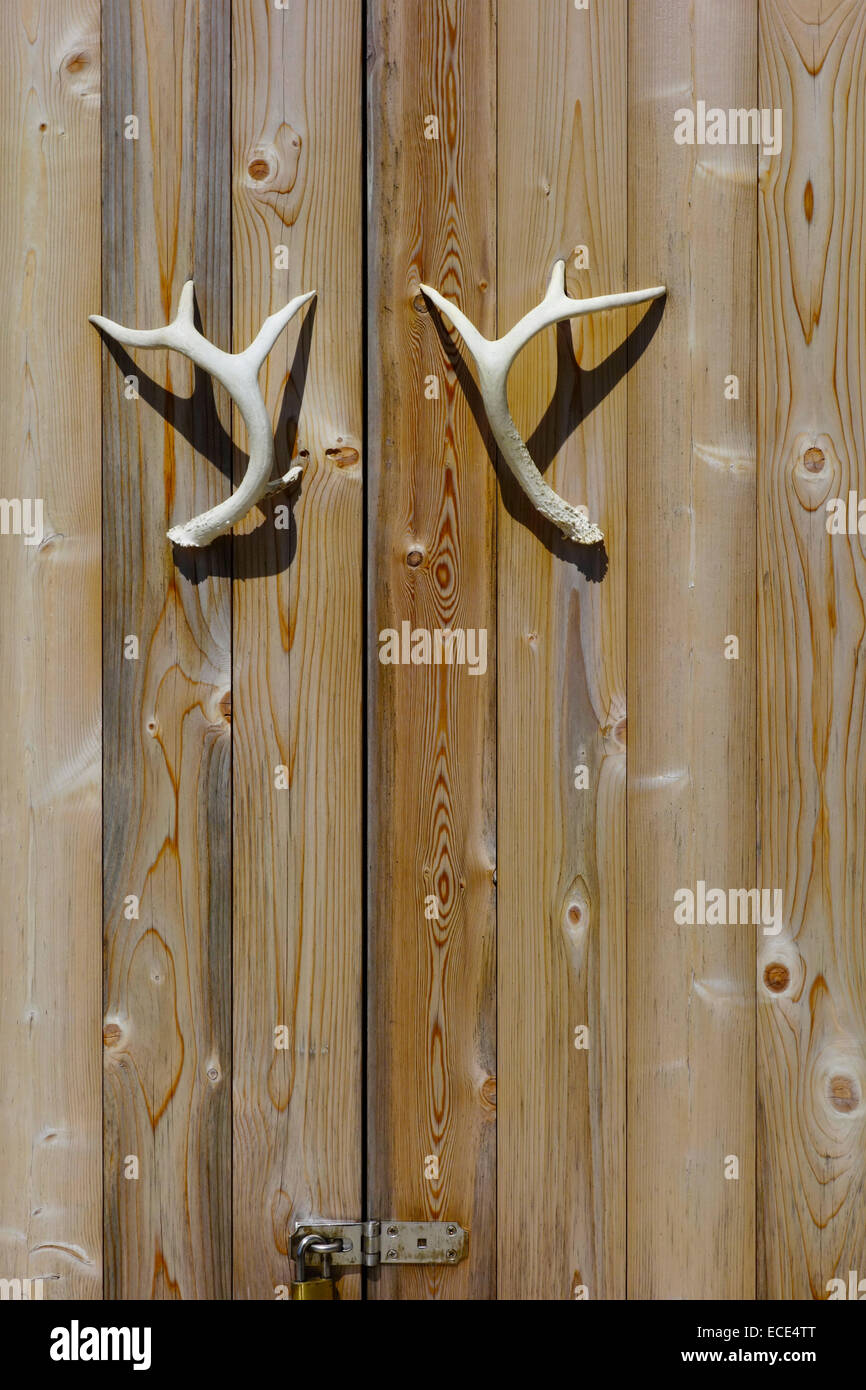 Deer Antlers As Door Handles Stock Photo Royalty Free