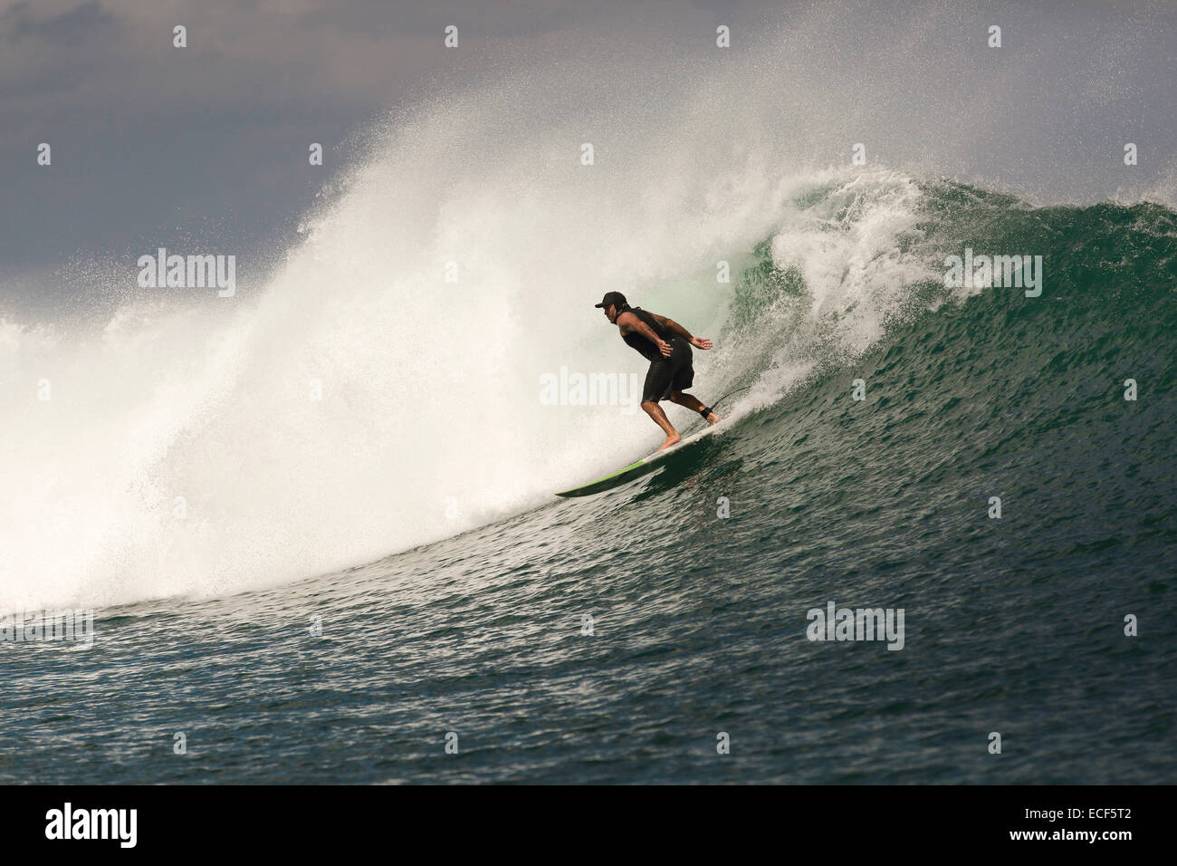 Rote Island Indonesia  city images : Surfing A Large Wave At Nembrala On Rote Island, Indonesia Stock Photo ...