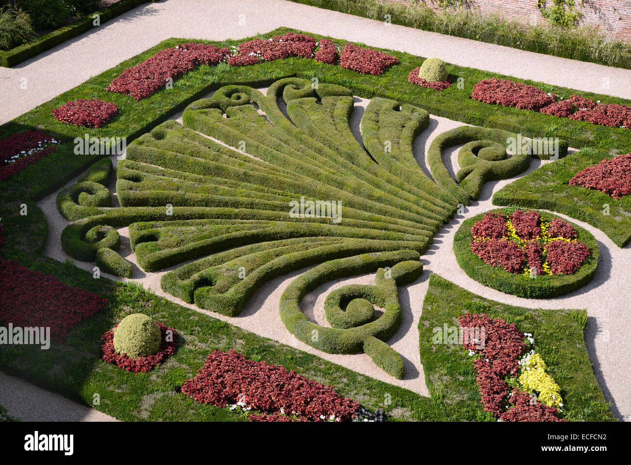 Formal French Garden Or Topiary Garden Of The Bishops Palace De La