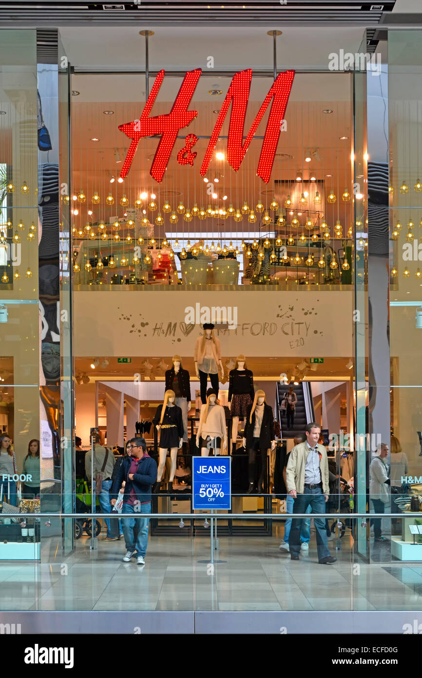 H Amp M Store With Interior Views Through Shop Front Window