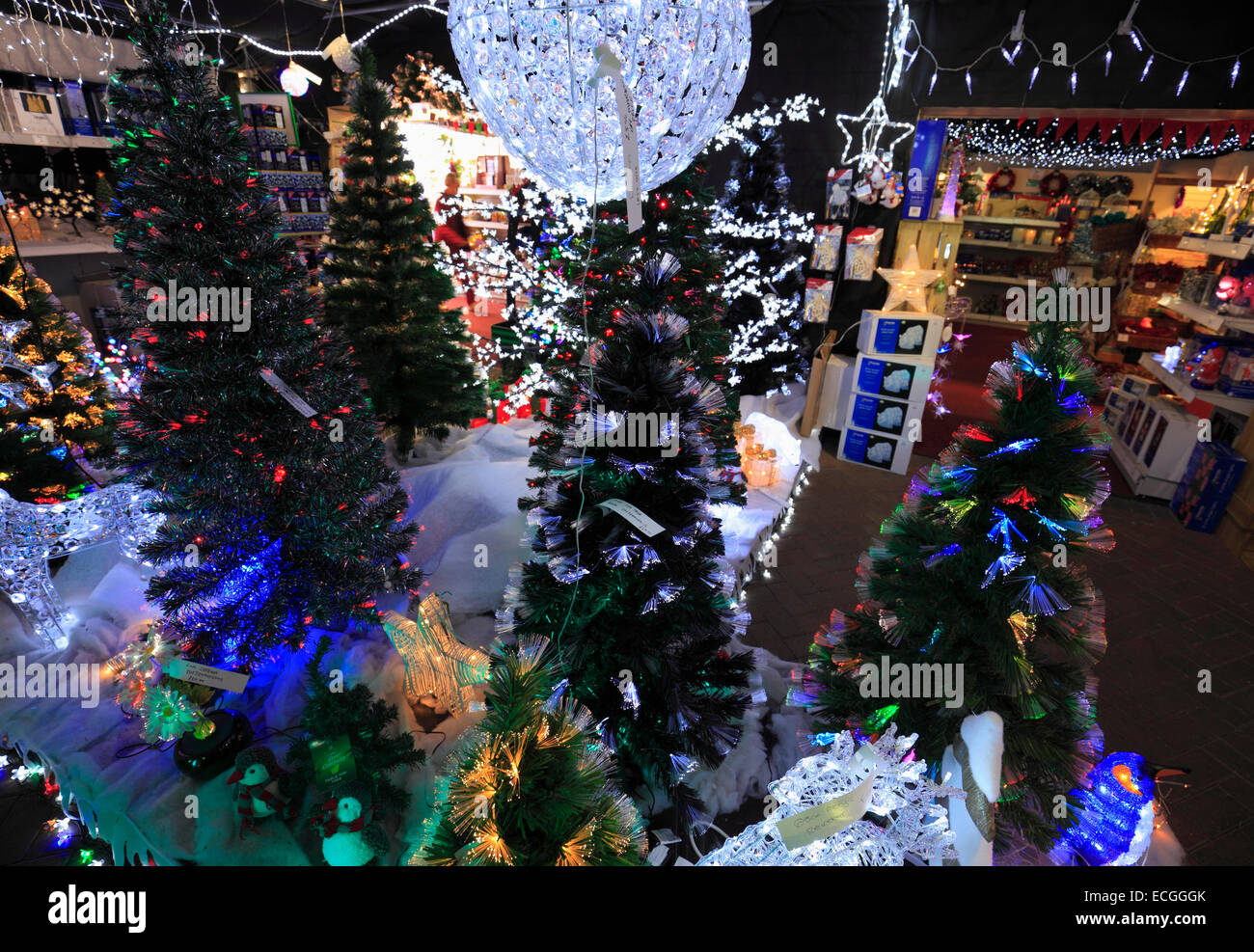 Artificial christmas trees and decorations for sale in a for Christmas tree decorations sale