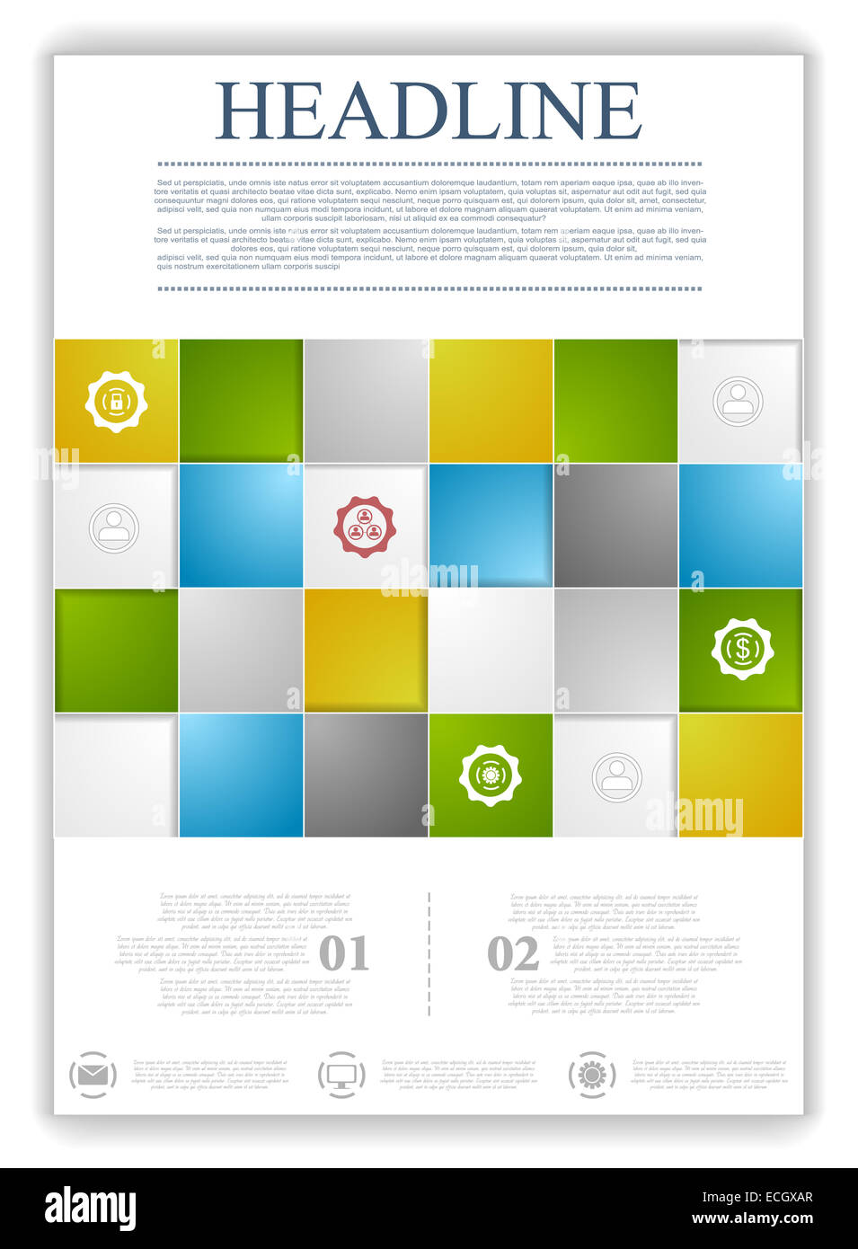 Abstract tec... Technical Poster Template