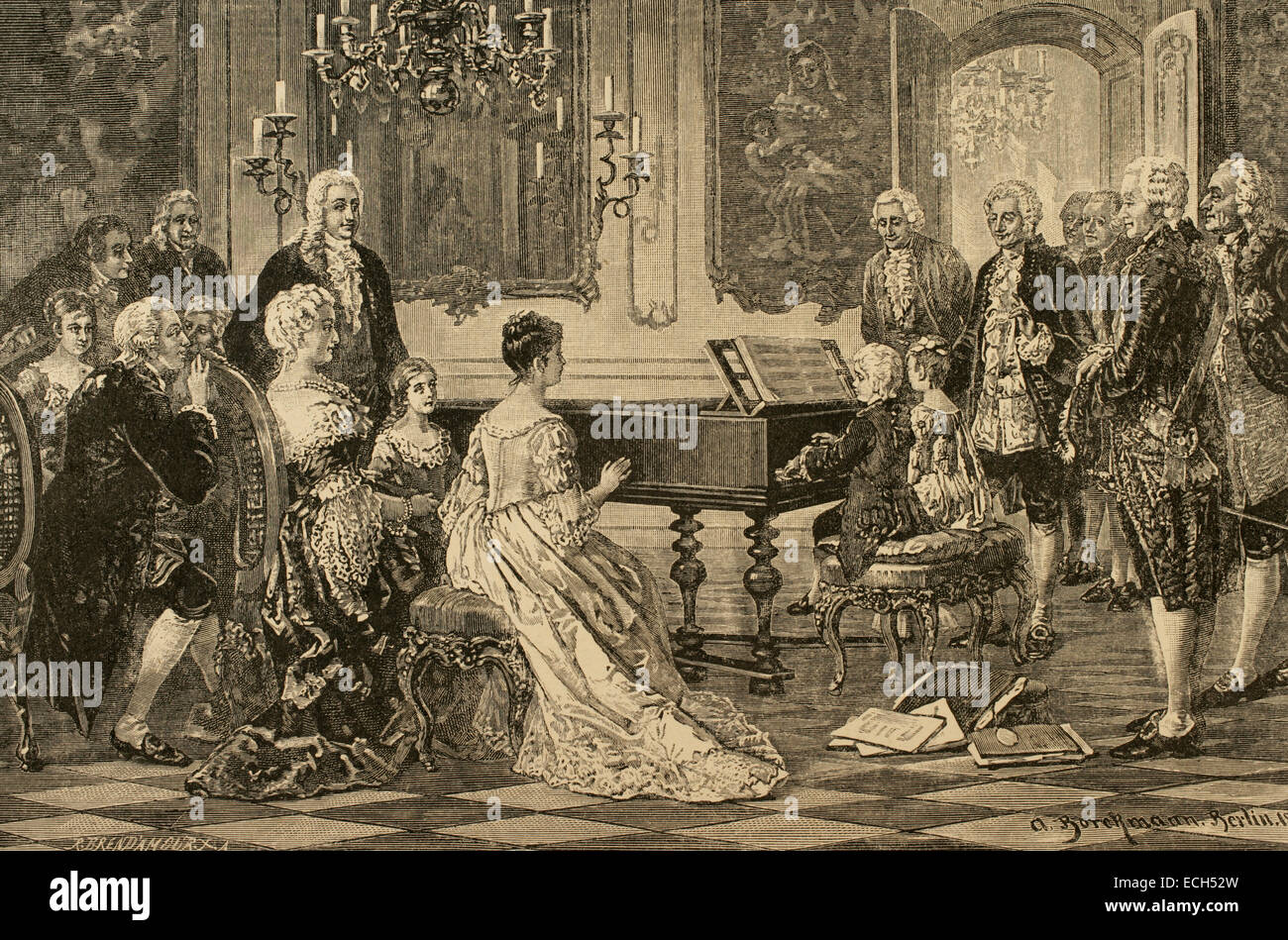 Mozart family grand Tour. Maria Anna (Nannerl) and ...