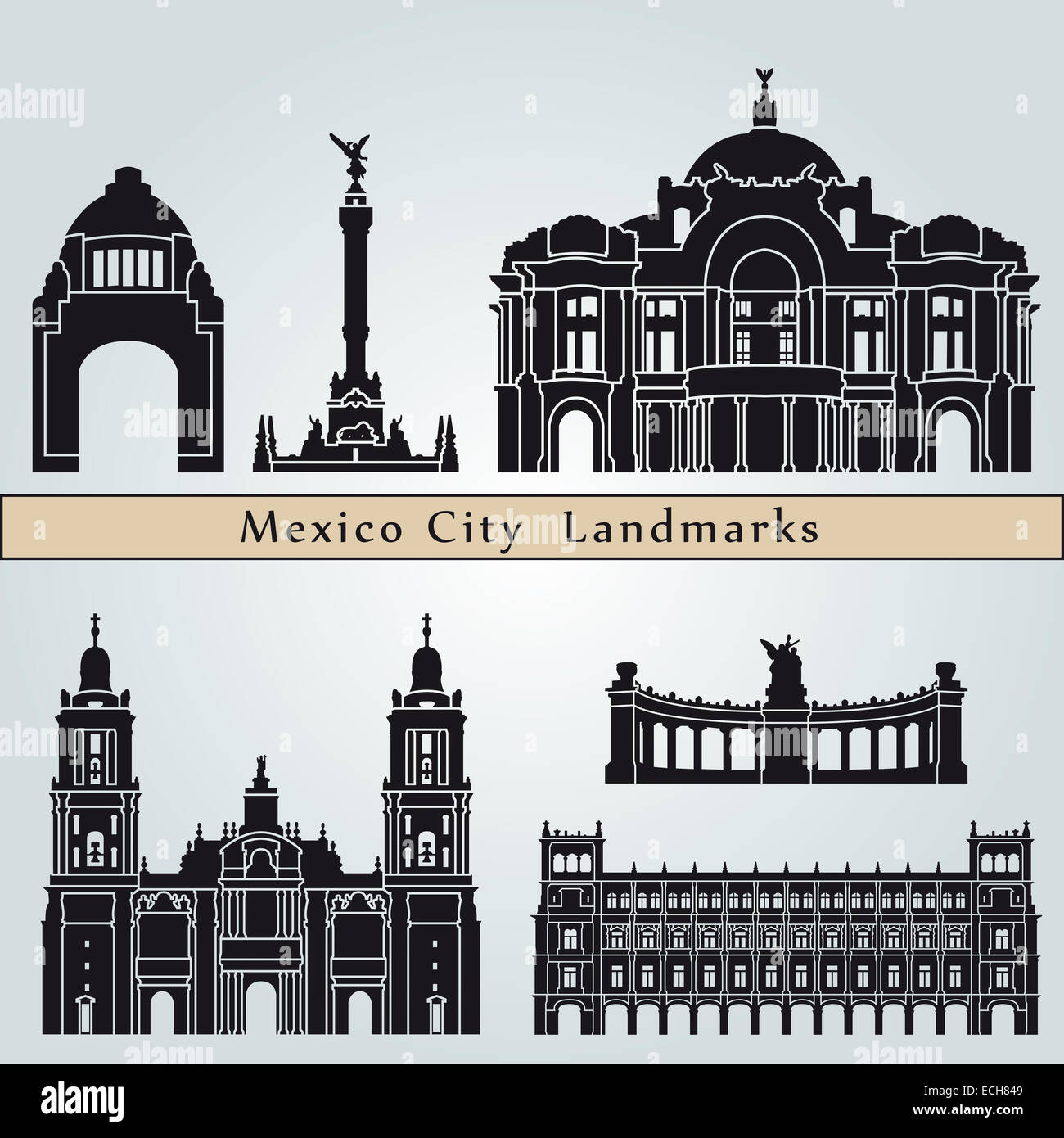 Mexico city landmarks and monuments stock photo royalty free mexico city landmarks and monuments sciox Gallery