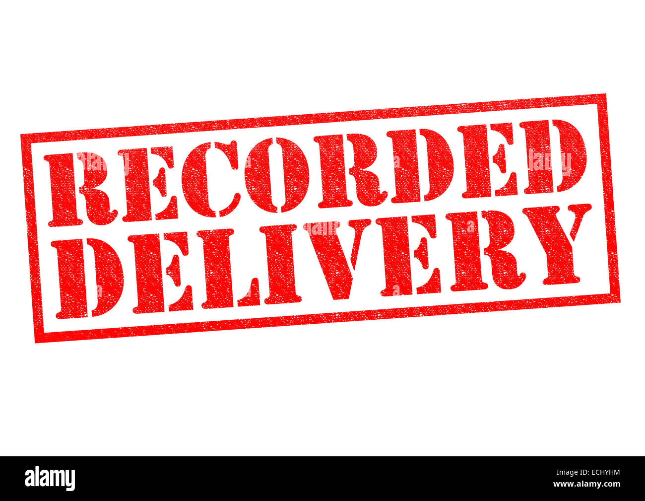 Who should choose recorded delivery?