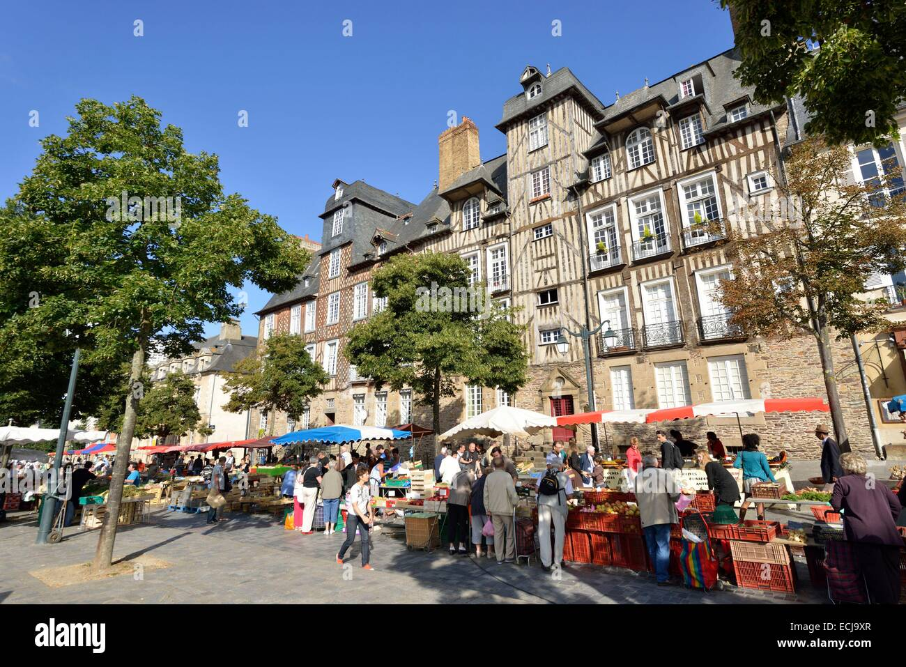 france ille et vilaine rennes place des lices market stock photo royalty free image. Black Bedroom Furniture Sets. Home Design Ideas