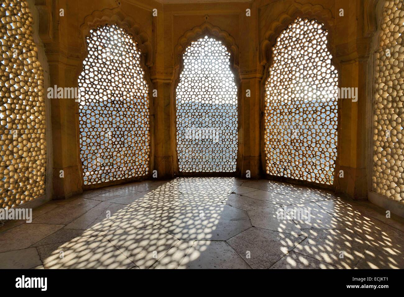 India Rajasthan Amber Fort Jali Latticed Screen