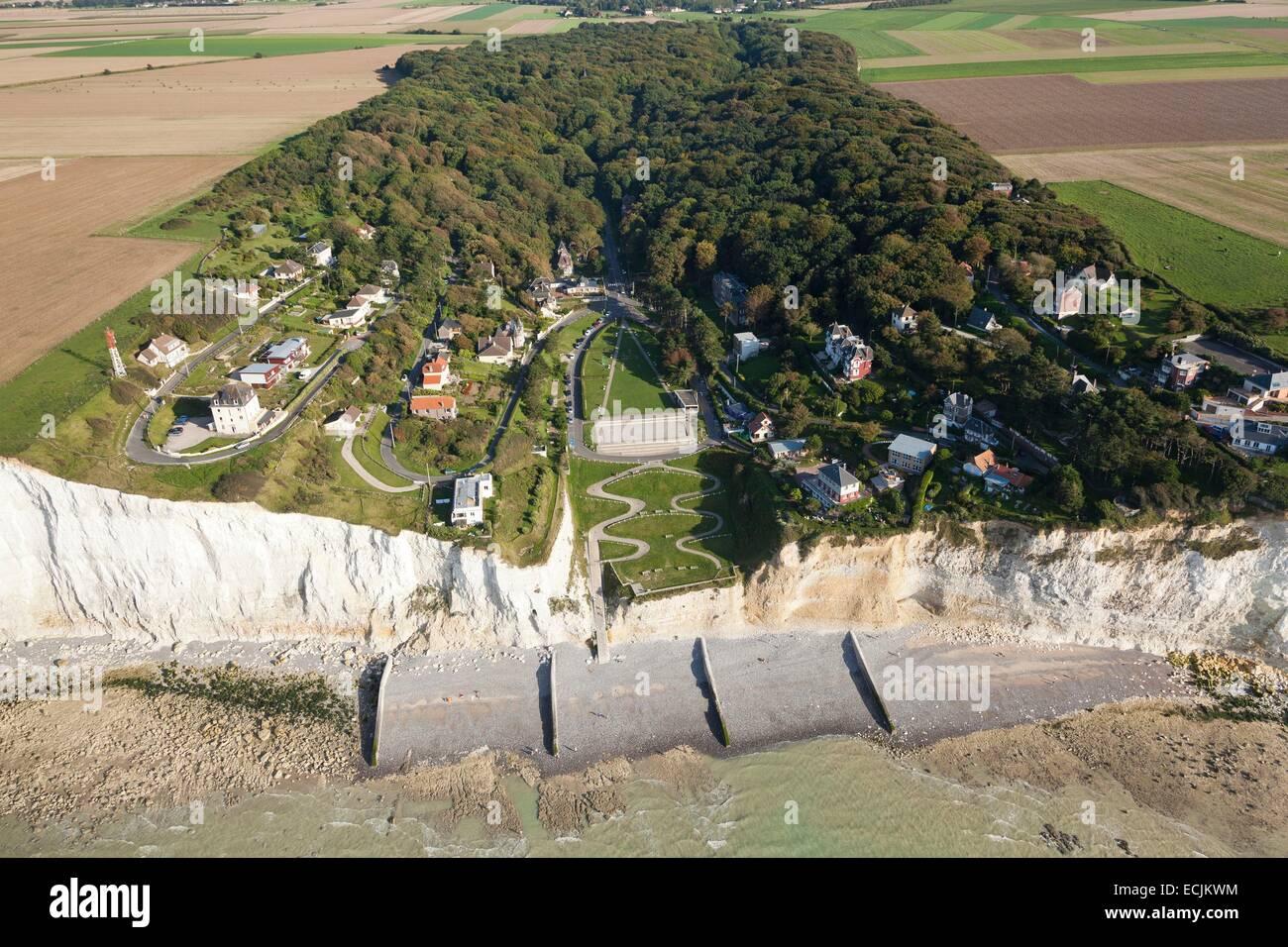France, Somme, Ault, Bois de Cise (aerial view Stock Photo, Royalty Free Image 76628096 Alamy # Bois De Cise Hotel