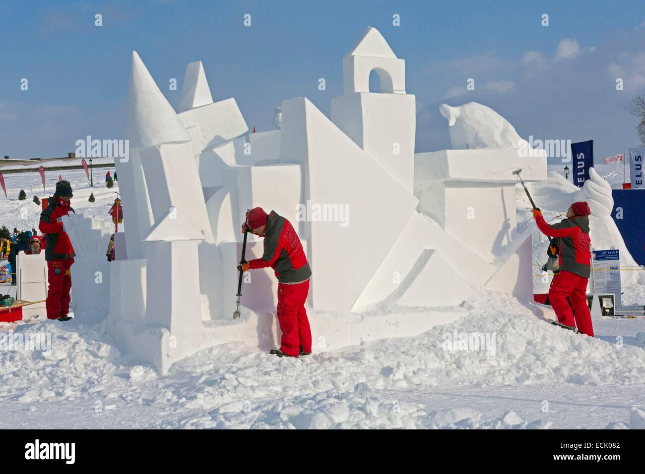 Canada Quebec Province Quebec City In Winter The Quebec Winter - Quebec winter carnival