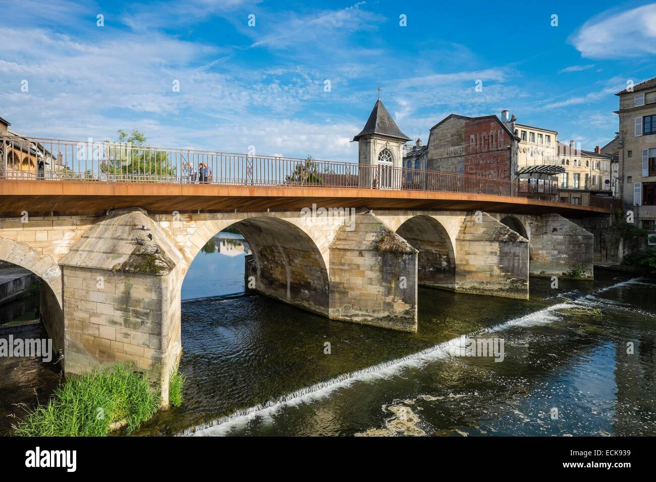 france meuse bar le duc notre dame bridge over the ornain river stock photo royalty free. Black Bedroom Furniture Sets. Home Design Ideas